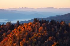 Autumn sunsets in Great Smoky Mountains National Park are always stunning - #FindYourPark http://etsy.me/1aX70rB