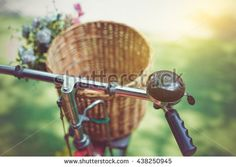Bicycle With Basket Stock Photography   Shutterstock