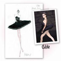 Kate and Laura Mulleavy of Rodarte's sketch for Black Swan (2010).