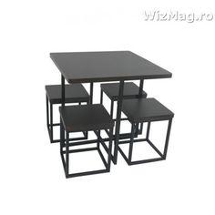 Masa bucatarie WIZ cu scaune mbs-6 wenge Mbs, The Wiz, Kitchen Furniture, Drafting Desk, Office Desk, Home Decor, Desk Office, Decoration Home, Desk