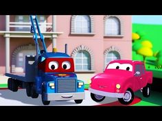 carl transform and the pickup truck in car city trucks cartoon for kids youtube
