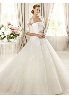 Tulle and Lace Wedding Dress with Jacket