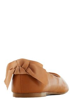 Ballet of the Land Flat in Caramel, #ModCloth