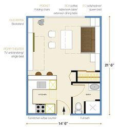 studio apartments floor plan 300 square feet location. Black Bedroom Furniture Sets. Home Design Ideas