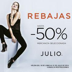 ¿Ya visitaron esta temporada JULIO Antara? En la boutique encontrarán descuentos de hasta el 50% en mercancía seleccionada.
