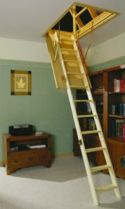 Loft Ladder Attic Stairs Pull Down Fh Compact Living