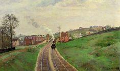 Camille Pissarro, Lordship Lane Station, c. 1870. Impressionism