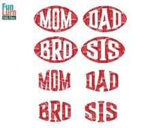 Football Mom SVG Dad Bro Sis  svg DXF EPS Cutting by FunLurnSVG