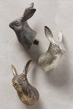 Curious Rabbit Finials - Curtain hardware - Anthropologie