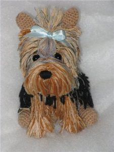 Free Crochet Yorkie Dog Pattern 1