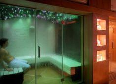 Baño turco con luces leds en el techo, perfectas para relajarse.  #bañoturco #turquisbath