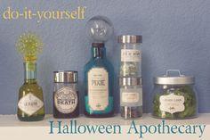DIY Halloween apothecary