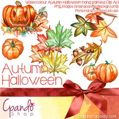Autumn Halloween Png Images with transparent by CpandoShop on Etsy