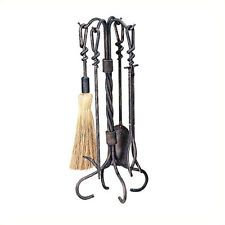 This unique Antique Rust Fireplace Tool Set will give your hearth that warm old county feel. The simple stand consists of four iron poles, twisting at. Stove Accessories, Fireplace Accessories, Antique Tools, Antique Copper, Antique Iron, Fireplace Tool Set, Fireplace Screens, Fireplace Hearth, Modern Fireplace