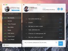 Skype x Yosemite OS X Design by Thomas Habr