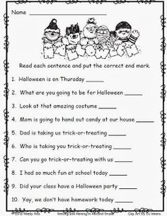 Worksheet Grammar Worksheets For 2nd Grade language the ojays and girls on pinterest halloween worksheets for 2nd grade free end punctuation worksheet