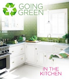Going Green: How To Have An Eco Friendly Kitchen #organicliving