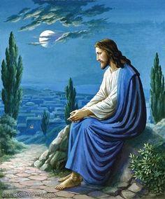 Jesus Sitting Overlooking Jerusalem God and Jesus Christ Pictures Of Jesus Christ, Religious Pictures, Religious Art, King Jesus, Jesus Is Lord, Jesus Our Savior, Jesus Is Risen, Jesus Loves, Wal Art