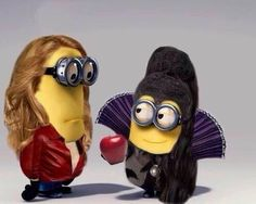 Emma and Regina as minions!  Love it!