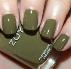 """Totally fell in love with this color, """"Dree"""" it's like an elegant olive .. I put…"""