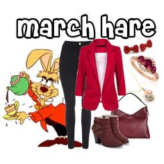 The March Hare by aquatic-angel on Polyvore featuring moda, Jane Norman, JustFab, Aspinal of London, LE VIAN and Zara Taylor