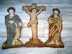 French antique 15 th-century embroidery Christ par MadameSoussou