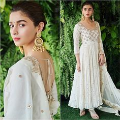 [New] The 10 Best Home Decor (with Pictures) - The gorgeous in for promotion today Styling Hair Makeup Photography . Lehenga Gown, Anarkali Dress, Pakistani Dresses, Indian Dresses, White Anarkali, Diwali Outfits, Bollywood Outfits, Bollywood Fashion, Indian Look