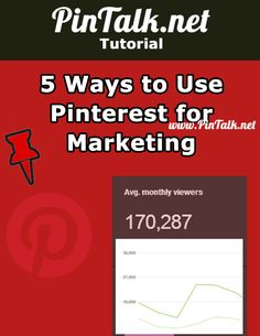 5 Ways to Use Pinterest for Marketing #socialmedia #pinterest #tutorial