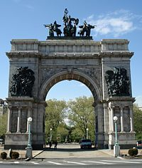 The Soldiers and Sailors Memorial Arch at Grand Army Plaza.  Brooklyn, NY ❤️❤️❤️