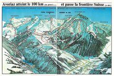 Plan des pistes, extrait du dépliant publicitaire de l'ouverture de la station