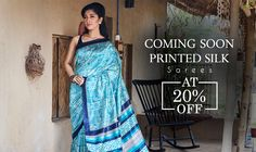Peppy #Printedsilks at 20% OFF and complimentary #blousestitching! #Shatika #Onlineshopping #Handloomsarees #Comingsoon