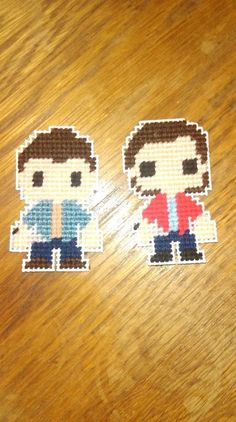 Supernatural Winchester Brothers Plastic Canvas Magnet Patterns