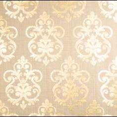 linen and metallic damask fabric