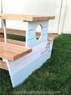 We love spending time outside in the summer, so it's time to get our backyard ready! Last year I built this fun nautical picnic table for my kids. It was one of…