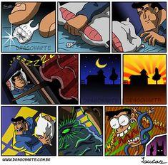 Eduardo Lucas Nascimento, known as Dragonarte, is a Brazilian comic artist. He draws Marvel and DC Comics universe in his own style Batman Artwork, Batman Comic Art, Batman Vs Superman, Batman Comics, Arte Dc Comics, Sci Fi Comics, Dc Comics Art, Funny Cartoons, Funny Comics