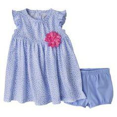 Just One You™Made by Carter's® Newborn Girls' Dress Set - Light Blue/White