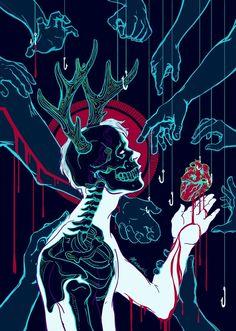 Arte Horror, Horror Art, Arte Obscura, Sad Art, Creepy Art, Dark Fantasy Art, Psychedelic Art, Skull Art, Aesthetic Art