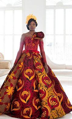 Toju Foyeh : Nigeria. Vlisco Bride 2018. Photography:  Anna  Nicholas (Fashionable  Photography)