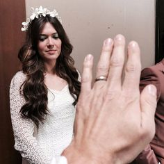 Put a Ring on It from Going Behind the Scenes of This Is Us With the Adorable Cast  Milo Ventimiglia grabbed this quick snap of Jack's wedding ring and his work wife Mandy Moore in costume while shooting Jack and Rebecca's big day.
