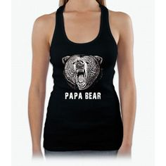 Papa Bear T-shirt Womens Tank Top
