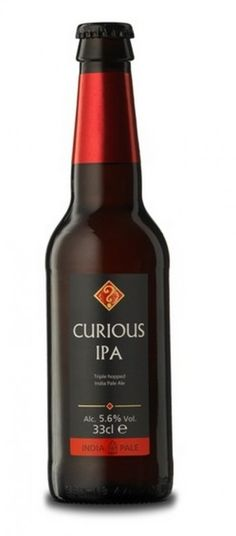 Cerveja Curious IPA, estilo India Pale Ale (IPA), produzida por The Chapel Down Winery, Inglaterra. 5.6% ABV de álcool.