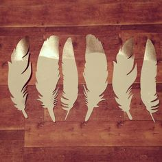 Gold tipped feathers #silhouette