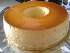 Flan condensed, evaporated milk and half cream