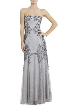 "BCBG: Colinne Strapless Sequined Gown...technically not a ""wedding dress"" but i like it!"