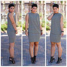 Fashion, Lifestyle, and DIY: DIY Chevron Dress Restyled + Pattern V8898