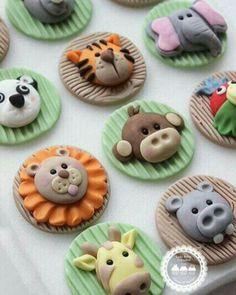 Cupcake toppings (fondant)