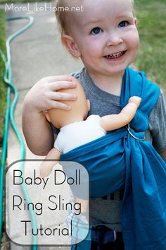 Good news, guys! I found this post I wrote last fall and never published! That was a freebie. Now you can finally make a baby doll ring slin...