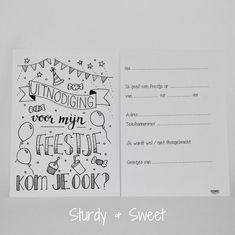 Birthday Invitations, Birthday Cards, Happy Birthday, Flower Doodles, Write It Down, Kids And Parenting, Bullet Journal, Letters, Writing