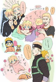 Naruto and Boruto Naruhina, Naruto Uzumaki Shippuden, Naruto Kakashi, Naruto Shippuden Characters, Naruto Anime, Naruto Comic, Naruto Cute, Sasunaru, Narusaku