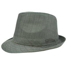 Authentic London Fog Dark Gray Brown Pinstripes Large XLarge Fedora Gangster Hat by London Fog. $22.99. Large - X-Large. Brand New Item with Tags. Fedora. Official Licensed Product. 100% Polyester. The classic fedora is a symbol of sophistication, carrying with it a long history of traditional style. It is a truly elegant and timeless piece. This is an authentic London Fog hat, and when you buy London Fog, you are buying the best. Fedora features Plaid design and fin...